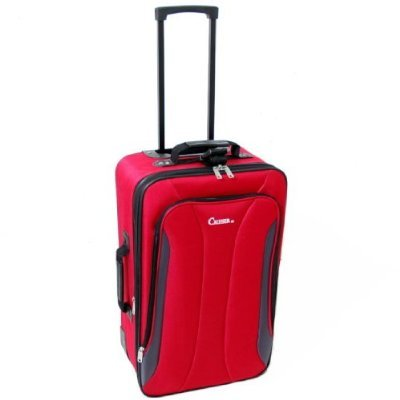 Cruiser Super Lightweight Small 22 Inch Expandable Suitcase (Red)