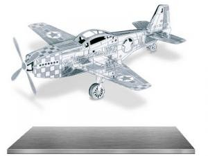 Metal Earth 3D Metal Model - P-51 Mustang Plane