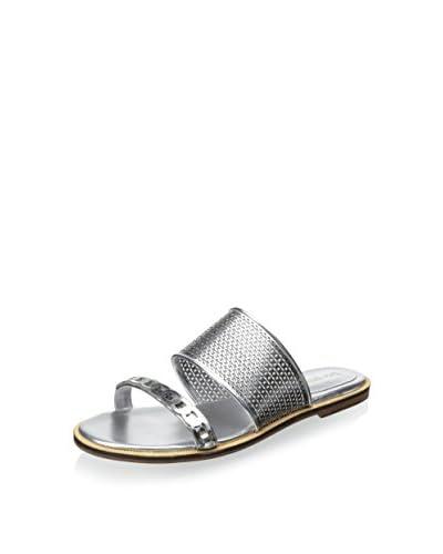 Enzo Angiolini Women's Jioni Flat Sandal  [Silver]