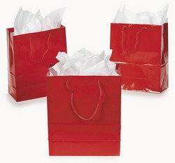 Medium Red Gift Bags (1 dz)