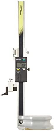 Mitutoyo 570-227 LCD Absolute Digimatic Height Gauge, SPC Output, 0-200mm Range, 0.01mm Resolution, +/-0.03mm Accuracy, 1.4kg Mass