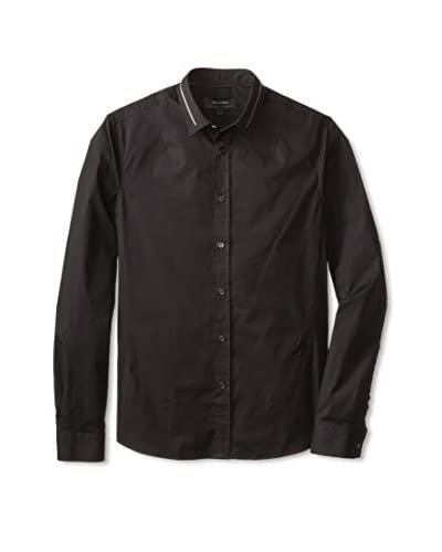 Religion Men's Long Sleeve Woven Shirt with Collar Detail