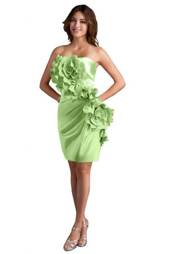 31WeR2xlHoL Sale off: Emma Y Lady Womens Strapless Handmade Flower Short Dress