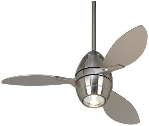 "Casa Vieja Revolve Ceiling Fan - 36"" Brushed Nickel"