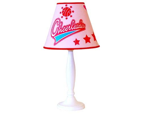 CHEERLEADER table LAMP girls pink BEDROOM decor