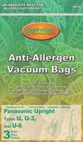 Evolution Type U 3-Ply Allergen High Performance Vacuum Bags - 3 Pack