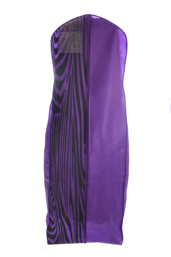 Bags for lesstm breathable wedding dress garment bag for Zebra print wedding dress