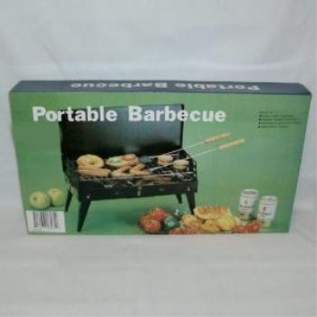Metal Black Portable Charcoal BBQ Grill