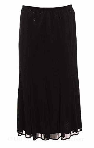 Onyx Nite Women's Pleated Sequined Midi Skirt Medium Black
