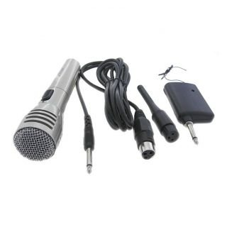 MEDHA D.J. PLUS Wireless/ Cordless MIC/ Microphone System Can Be Used as a Corded Microphone