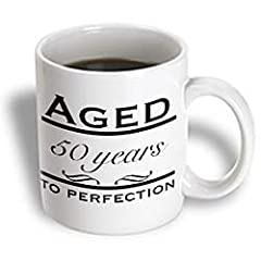 EvaDane - Funny Quotes - Aged 50 years to perfection. Happy 50th Birthday. - Mugs