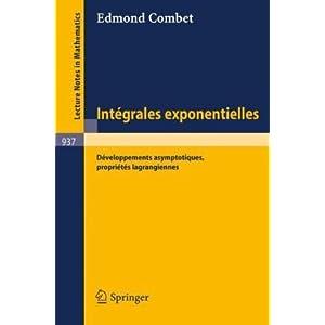Integrales Exponentielles E. Combet