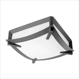 Leds C4 Outdoor Lighting Mark Aluminium Ceiling Fixture with Matt Polycarbonate Diffuser from Leds C4