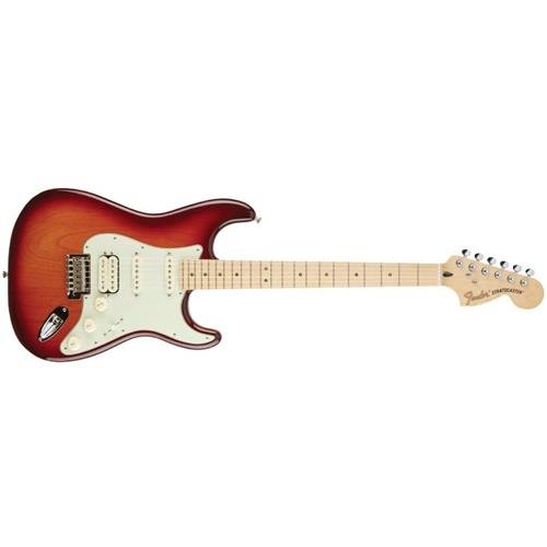 Fender Deluxe Stratocaster Electric Guitar HSS, Maple Fingerboard, Tobacco Sunburst (Fender Electric Guitar Deluxe compare prices)