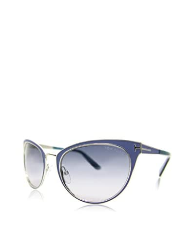 Tom Ford Occhiali da sole NINA 0373S-86Z (56 mm) Argentato/Blu