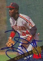 Reggie Jefferson Cleveland Indians 1993 Leaf Autographed Hand Signed Trading Card. by Hall+of+Fame+Memorabilia