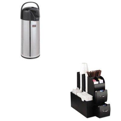 Kitbunairpot22Emscad01Blk - Value Kit - Bunn Coffee Airpot Carafe (Bunairpot22) And Ems Mind Reader Llc Coffee Organizer (Emscad01Blk)