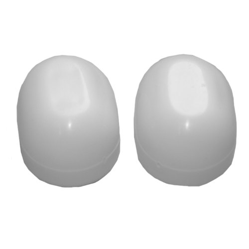 Lasco 04-3913 White Oval Plastic, Universal Fit, 1-Pair Toilet Bolt Cap