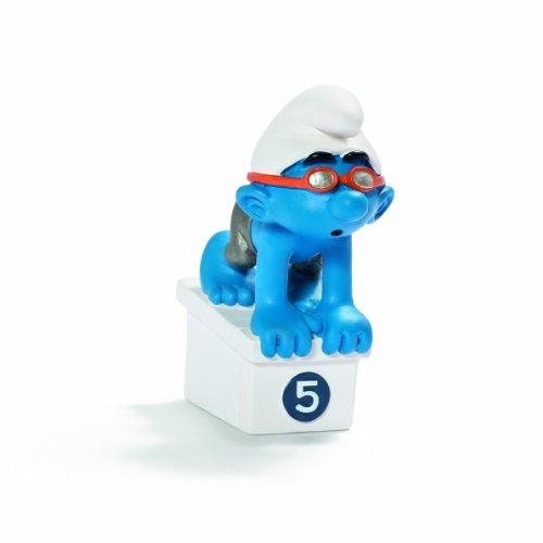 Schleich Swimmer Smurf Figure - 1