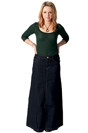 denim skirt indigo womens blue
