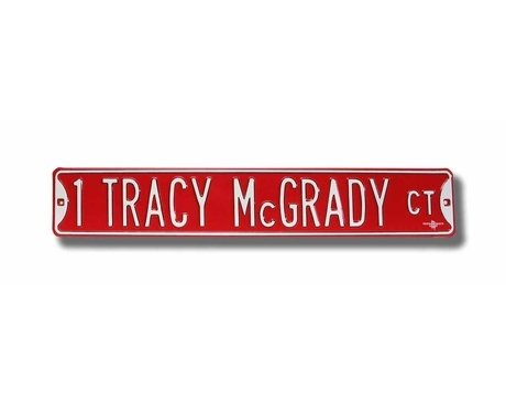 1 Tracy McGrady Court Ct Sign 6 x 36 NBA Basketball Street Sign