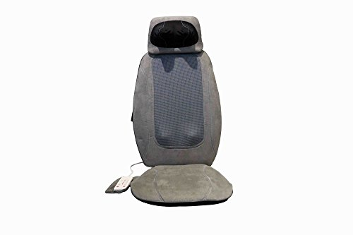 iLIVING Shiatsu Portable Back/Neck Massager with Heat Therapy, Soothing Grey
