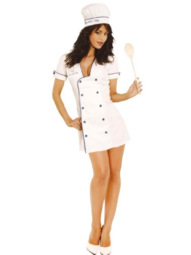 Sexy Cook Chef Costume Short Hot Dress and Chef Hat Womens Theatrical Costume