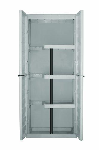 Art Plast S70/PS Armadio in Plastica, Alto con Portascope , Tortora