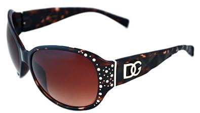 DG Eyewear Women's Rhinestone Sunglasses (Coffee Mosaic)