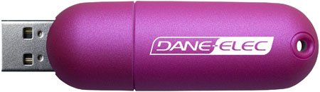 Dane-Elec Twist - USB flash drive - 4 GB - Hi-Speed USB - pink