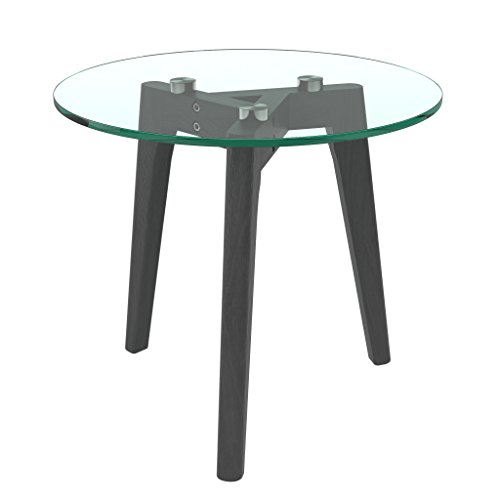 bonVIVO-Design-Couchtisch-Filippa-Beistelltisch-Im-Retro-Look-Mit-Glasplatte-Und-Massiv-Holz-Fssen-Aus-Eiche-In-Schwarz-Black-Klein