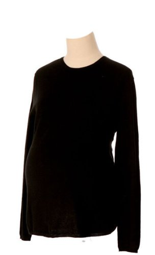 Cashmere Blend Crewneck Sweater Black