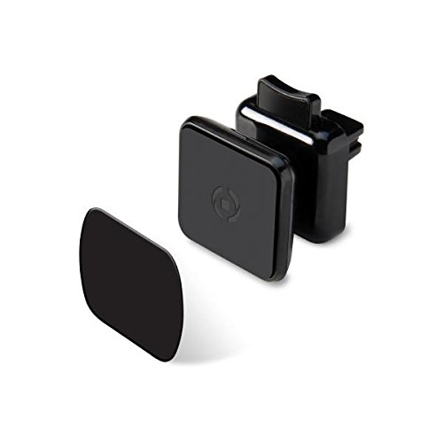 Celly Ghost Plus Supporto da Auto per Smartphone con Fissaggio Magnetico, Nero