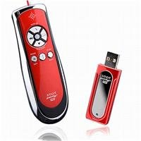 Satechi SP400 Smart-Pointer (Red) 2.4Ghz RF Wireless Presenter with Mouse Function and Laser Pointer