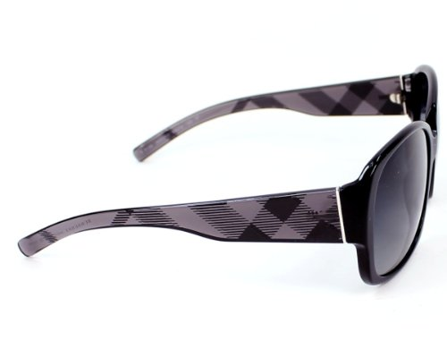 Burberry  Burberry BE4128 Sunglasses-3001/T3 Black (Gray Gradient Polarized Lens)-59mm