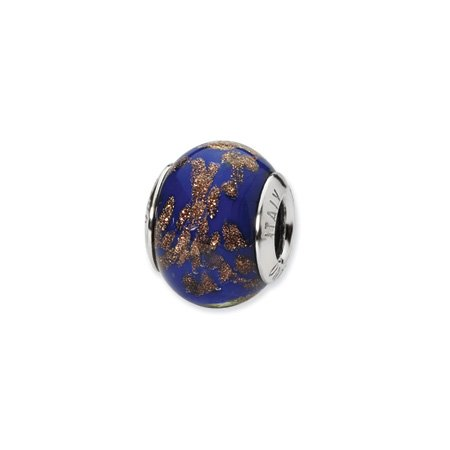 Blue and Gold Murano Glass Charm
