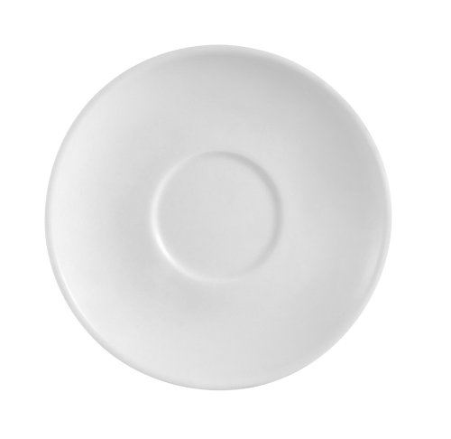 Cac China Rcn-57 Clinton Rolled Super Porcelain Saucer, 6-7/8-Inch, White, Box Of 36