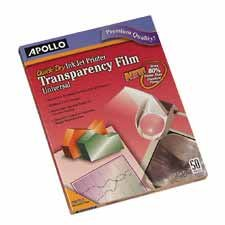 APOCG7033S - Universal Quick-Dry Ink Jet Printer Transparency Film - Buy APOCG7033S - Universal Quick-Dry Ink Jet Printer Transparency Film - Purchase APOCG7033S - Universal Quick-Dry Ink Jet Printer Transparency Film (Apollo, Office Products, Categories, Office & School Supplies, Presentation Supplies, Transparency Film)