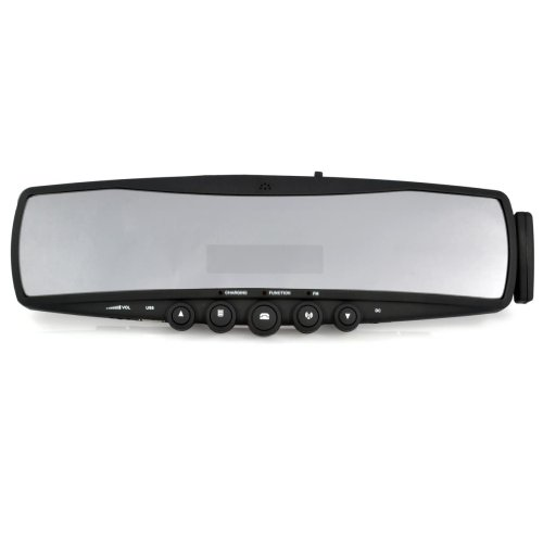 Generic Car Rear View Mirror With Bluetooth Earphone Kit Fm Color Black