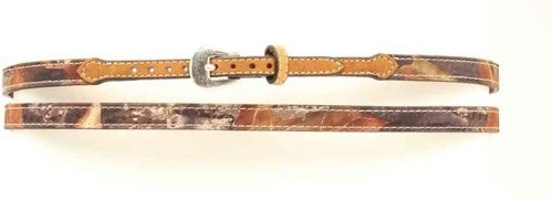 M&F Western 02352222 Adult'S 3/8-In Leather Buckled Hatband Mossy Oak One Size