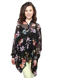 XnY Batwing Black Printed Shirt