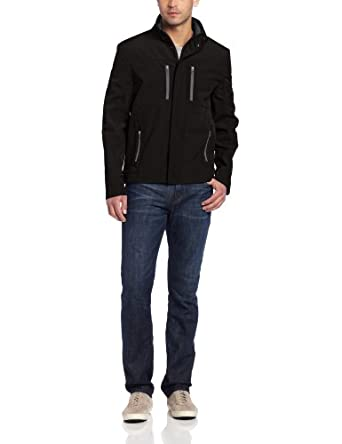 Kenneth Cole Reaction Men's Soft Shell Jacket, Black, Small
