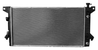 TYC 13099 Ford F150 1-Row Plastic Aluminum Replacement Radiator (F150 Radiator Cover compare prices)