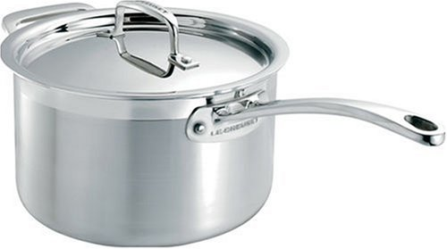 Le Creuset 3-Ply Stainless Steel Saucepan with Lid, 16 cm