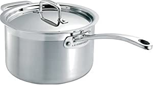 Le Creuset 3-Ply Stainless-Steel 2-Quart Covered Saucepan