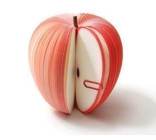 (ココ)COCO 文具 フルーツ の形 の 付箋 まるで 本物 の リンゴ のよう 机の上 に おいて おしゃれな インテリア にもなる !