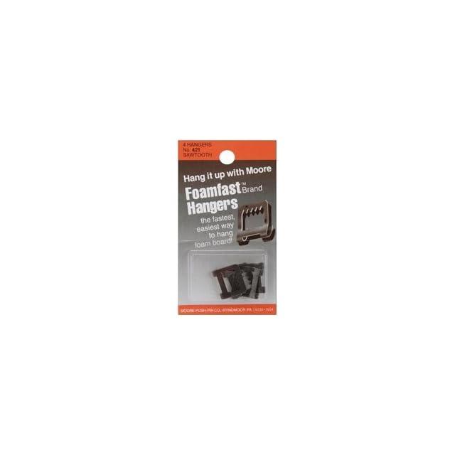 Bulk Buy Moore Push Pin Foamfast Sawtooth Hangers 4/Pkg 421 (12 Pack)
