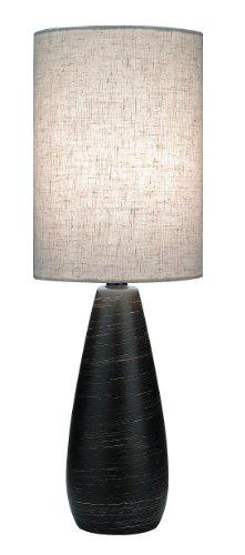 Lite Source LS-2998 Quatro 17-1/2-Inch Ceramic Mini Table Lamp with Linen Shade, Brushed Dark Bronze