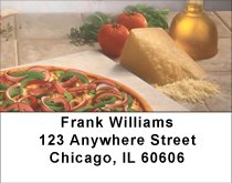Homemade Pizza Address Labels