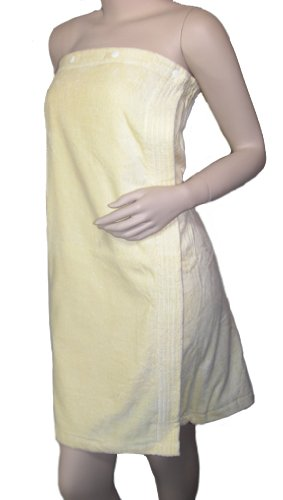 Terry Cloth Women's Spa Shower Wrap by Knothe (White)